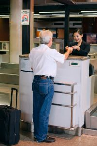 airline check-in counter