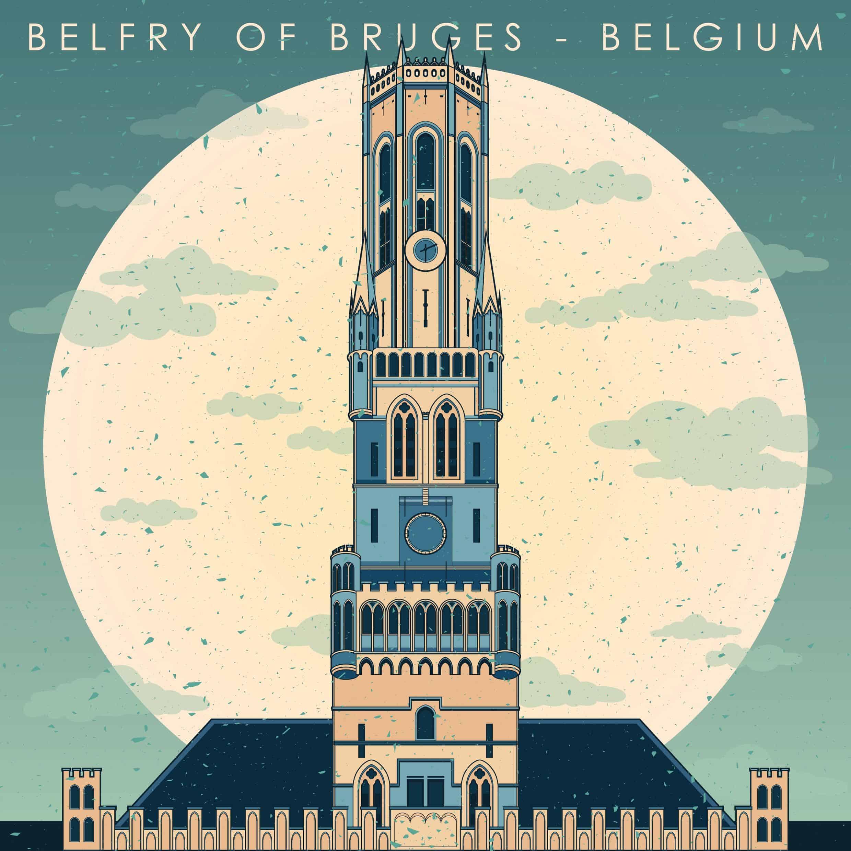 Belfrey of Bruges Belgium