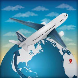 globe and airplane